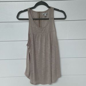 American Eagle Taupe Tank With Zipper Large